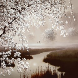 Blossoming Dreams by John Waterhouse - Limited Edition on Paper sized 18x18 inches. Available from Whitewall Galleries